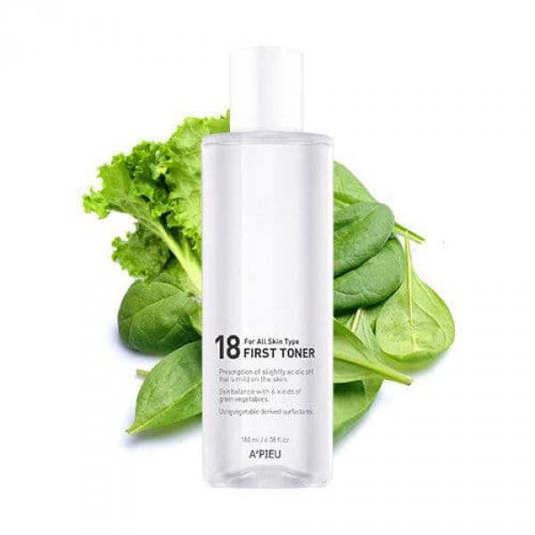 18 First Toner - Балансирующий тонер для лица с экстрактами зелёных овощей