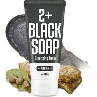 A'pieu 2+ Black Soap - Пенка для умывания