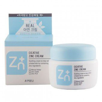 A'pieu Cicative Zinc Cream - Успокаивающий крем с цинком