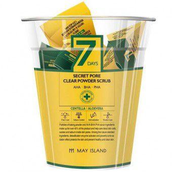 May Island 7days Secret Pore Clear Powder Scrub - Кислотный очищающий скраб для лица