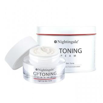 Nightingale G7 Toning Cream - Крем для лица осветляющий с Глутатионом и растительными экстрактами