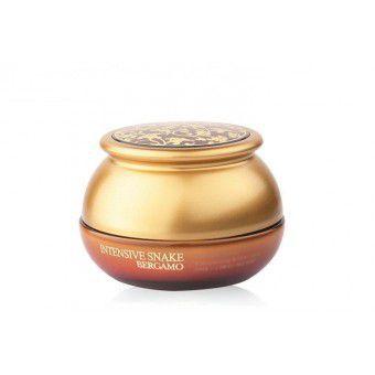 Bergamo Intensive Snake Syn-ake Wrinkle Care Cream - Интенсивный крем с экстрактом змеиного яда