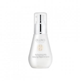Cellnco Botoline Refreshing Milk Sleeping Mask Ampoule - Ночная сыворотка с молоком