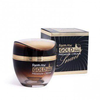 Farm Stay Gold Snail Premium Cream - Премиальный крем с золотом и муцином улитки