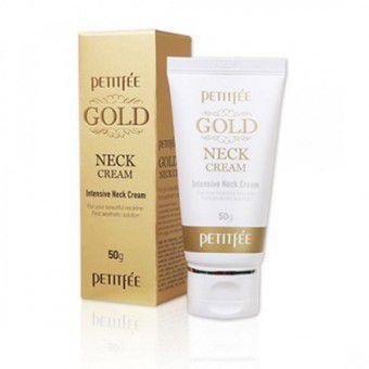 Petitfee Gold Neck Cream -Крем для шеи и декольте с золотом
