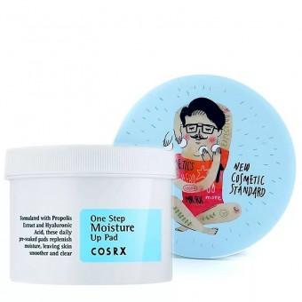 CosRX One Step Moisture Up Pad - Увлажняющие пилинговые диски для очищения лица