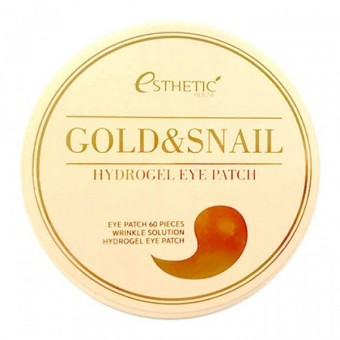 Esthetic House Gold&Snail Hydrogel Eye Patch - Гидрогелевые патчи для век с экстрактом слизи улитки и золота