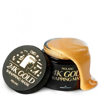 Esthetic House Piolang 24K Gold Wrapping Mask - Обволакивающая маска-плёнка для лица с 24 каратным золотом