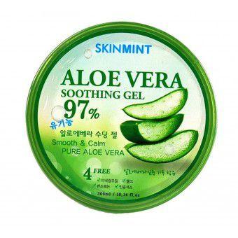 SkinMint Aloe Vera Soothing Gel 97% - Увлажняющий гель для лица и тела с экстрактом алоэ 97%
