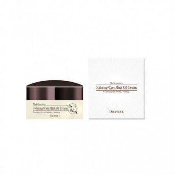 Deoproce Relaxing Care Mink Oil Cream - Крем успокаивающий с жиром норки
