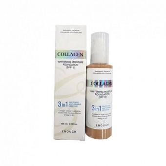 Enough Collagen Whitening Moisture Foundation SPF 15 (№ 13) - Отбеливающий тональный крем  SPF 15