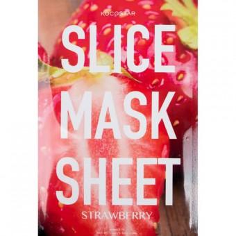 Kocostar  Slice mask sheet (strawberry) - Тканевые маски-слайсы с экстрактом клубники