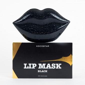 Kocostar  Lip Mask Black Single Pouch ( Black Cherry Flavor) - Гидрогелевые патчи для губ с экстрактом черной черешни