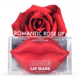 Kocostar  Rose Lip Mask - Гидрогелевые патчи для губ с экстрактом розы