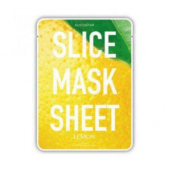 Kocostar  Slice mask sheet (lemon) - Тканевые маски-слайсы с экстрактом лимона