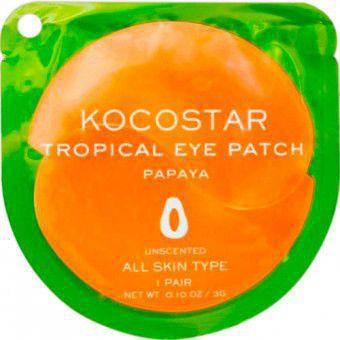 Kocostar  Tropical Eye Patch (Papaya) Single - Гидрогелевые патчи для глаз с экстрактом папайи