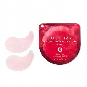 Kocostar  Tropical Eye Patch (Pitaya) Single - Гидрогелевые патчи для кожи вокруг глаз с экстрактом питайи