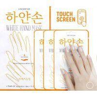 White Hand Mask -  Восстанавливающая маска для рук «Увлажнение и Сияние» Набор из 3 шт.