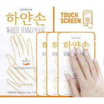 Kocostar  White Hand Mask -  Восстанавливающая маска для рук «Увлажнение и Сияние» Набор из 3 шт.