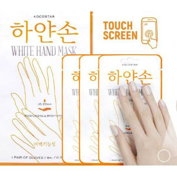 White Hand Mask -  Восстанавливающая маска для рук Увлажнение и Сияние Набор из 3 шт.
