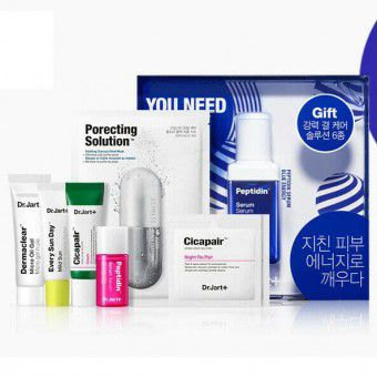 Dr.Jart+ Peptidin Serum Blue Energy Up Set - Подарочный набор из 6 средств