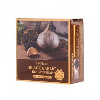Deoproce Black Garlic Reaging Soap - Антивозрастное мыло с черным чесноком