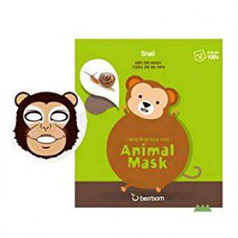 Berrisom Animal Mask Series (Monkey) - Веселая тканевая маска-мордочка (Обезьянка)