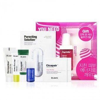 Dr.Jart+ Peptidin Serum Pink Energy Up Set - Подарочный набор из 6 средств