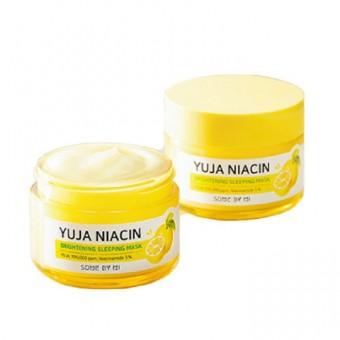 Some By Mi Yuja Niacin Brightening Sleeping Mask - Маска для сияния кожи ночная