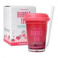 Bubble Tea Sleeping Pack Strawberry - Ночная маска для лица с экстрактом клубники