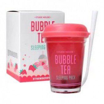 Etude House Bubble Tea Sleeping Pack Strawberry - Ночная маска для лица с экстрактом клубники