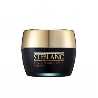 Steblanc Black Snail Repair Cream - Крем для лица восcтанавливающий с муцином Черной улитки