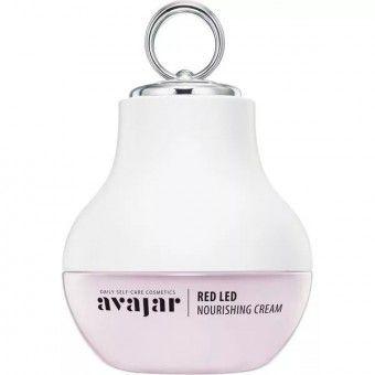 Avajar Red LED Nourishing Cream (Special PKG) - Обогащенный питательный крем с аппликатором для ухода за сухой кожей