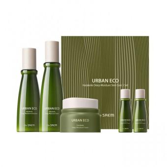 The Saem Urban Eco Harakeke Deep Moisture Skin Care 3 Set - Набор интенсивно увлажняющих средств