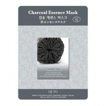 Mijin Charcoal Essence Mask - Маска тканевая с древесным углем