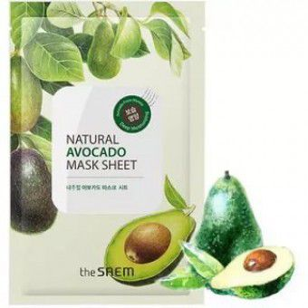 The Saem Natural Avocado Mask Sheet - Тканевая маска с авокадо