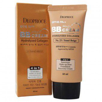 Deoproce Magic BB Cream №23 SPF50+PA+++ - Маскирующий ББ крем с коллагеном и гиалуроновой кислотой