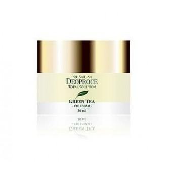 Deoproce Premium Green Tea Total Solution Eye Cream - Увлажняющий крем для кожи вокруг глаз с экстрактом зелёного чая