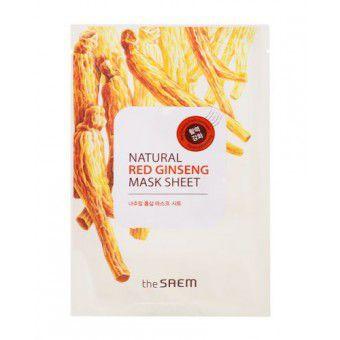 The Saem Natural Red Ginseng Mask Sheet - Маска тканевая с экстрактом женьшеня
