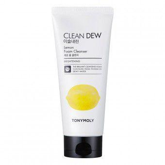 TonyMoly Clean Dew Lemon Foam Cleanser - Осветляющая пенка для умывания с экстрактом лимона