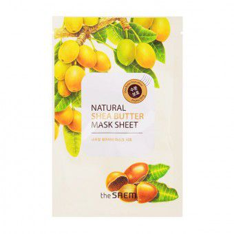 The Saem Natural Shea Butter Mask Sheet - Маска тканевая с экстрактом масла ши
