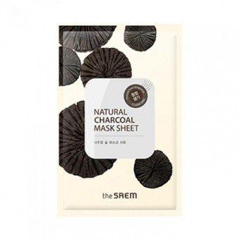 The Saem Natural Charcoal Mask Sheet - Тканевая маска с древесным углем