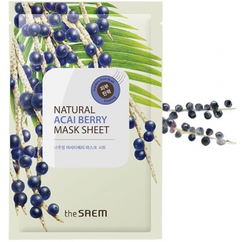 The Saem Natural Acai Berry Mask Sheet - Тканевая маска с экстрактом ягод асаи