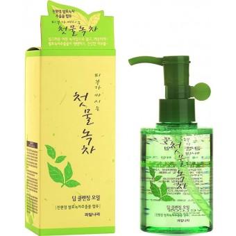 Welcos Green Tea Deep Cleansing Oil - Гидрофильное масло с зеленым чаем