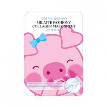 Milatte Fashiony Collagen Mask Sheet - Маска для лица с коллагеном