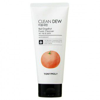 TonyMoly Clean Dew Red Grape Fruit Foam Cleanser - Увлажняющая пенка для умывания с экстрактом красного грейпфрута