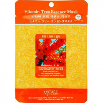 Mijin Vitamin Tree Essence Mask - Маска тканевая c облепихой