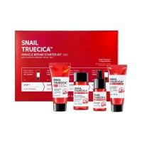 Snail Truecica Miracle Repair Starter Kit - Набор-мини средств с муцином черной улитки