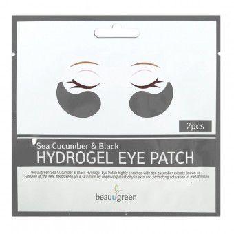 BeauuGreen Sea Cucumber & Black Hydrogel Eye Patch (single) - Гидрогелевые патчи с экстрактом черного морского огурца