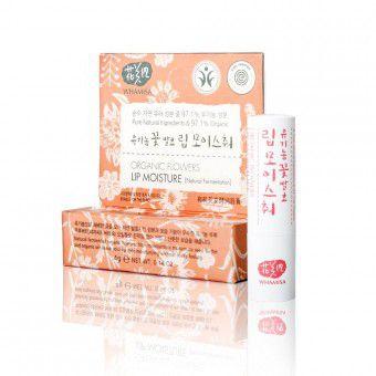 Whamisa Organic Flowers Lip Moisture (Natural Fermentation) - Бальзам для губ на основе цветочных ферментов